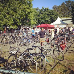 Hard workers at the bike valet