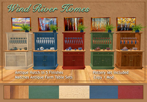 Antique Hutches by Teal Freenote