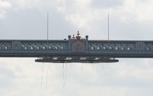 Olympic Rings lift at Tower Bridge