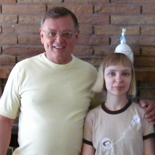 Dad and Me, July 2011 after we painted our living room.