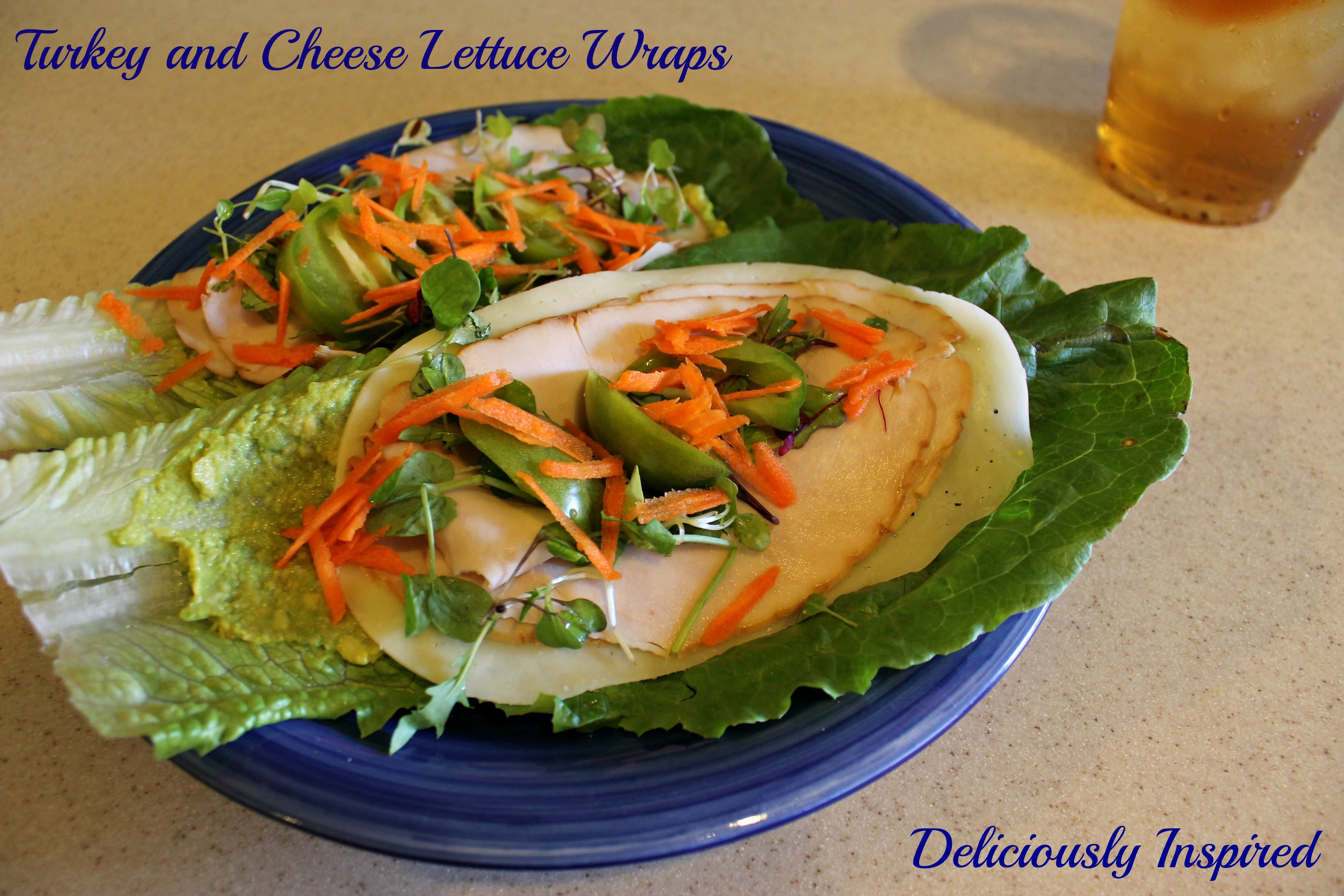 Turkey and Cheese Lettuce Wraps