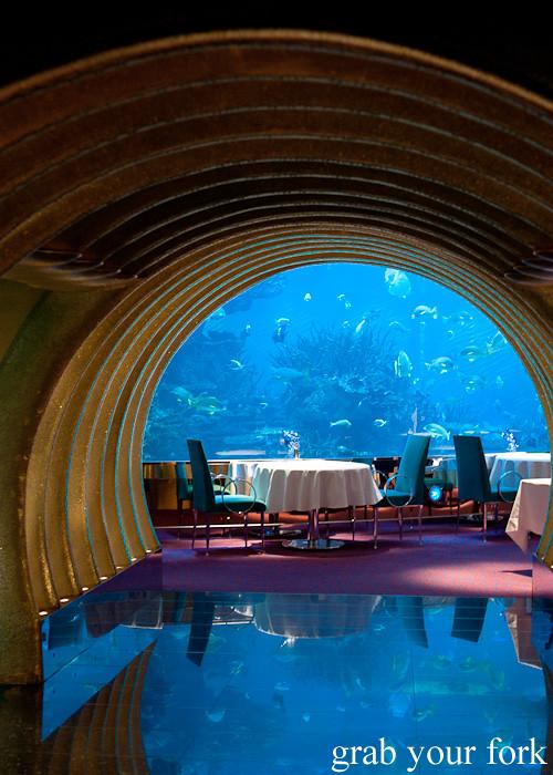 Al Mahara restaurant with seawater aquarium in Burj Al Arab, Dubai