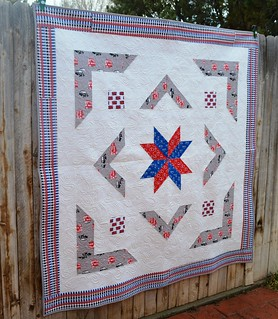 The Royal Star Quilt - Angle
