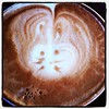 Awww this cafe is doing bunnies on their lattes for Easter. #LoveNapier #cappadonna