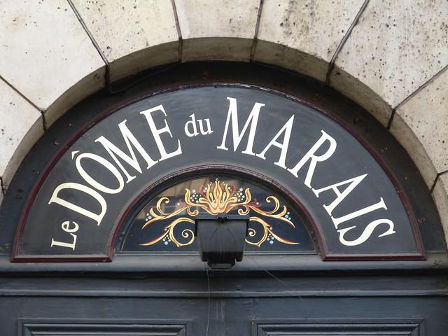 Le Dome du Marais sign
