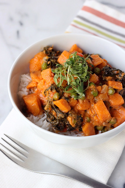 30-Minute Sweet Potato and Kale Coconut Curry {Gluten-free and Vegan}