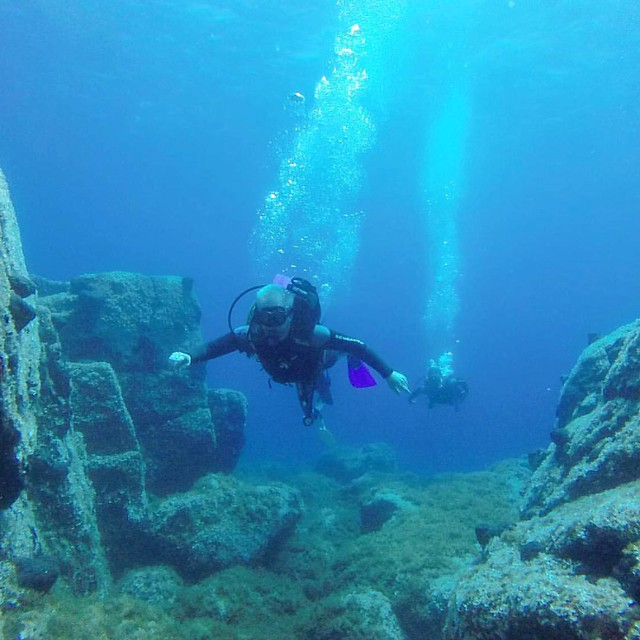 Photo:In which our intrepid vacationer tries scuba diving, only has one brief mini-panic episode, calls that a victory, pets sea sponges and finds shards of pottery leftover from old shipwrecks. By ianbckwltr