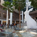 Giant rabbit at Brookfield Place