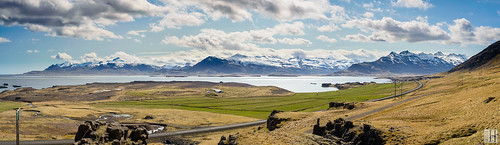 panorama mountain point island coast is iceland view cloudy extreme wide east vista austurland splendit