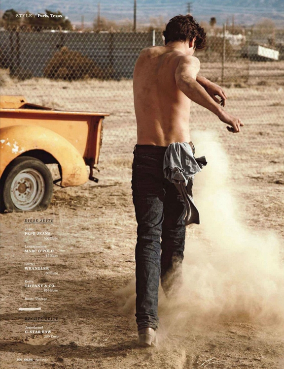 Paris Texas - GQ Germany, April 2012 - Sean O'Pry by Dan Martensen and styling by Manuela Hainz