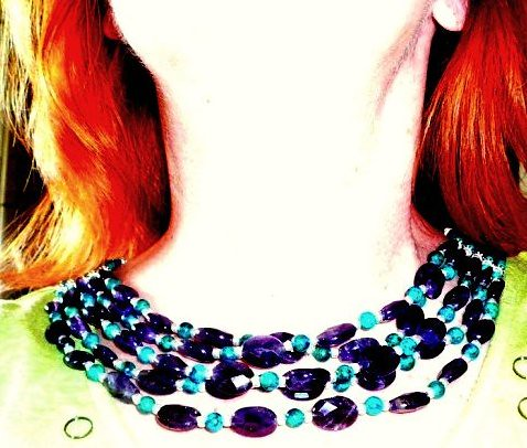 Amethyst necklace w