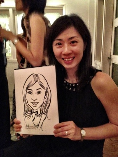 Caricature live sketching for Diageo Singapore Pte Ltd - 10