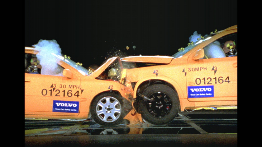XC90 and S40 crash test