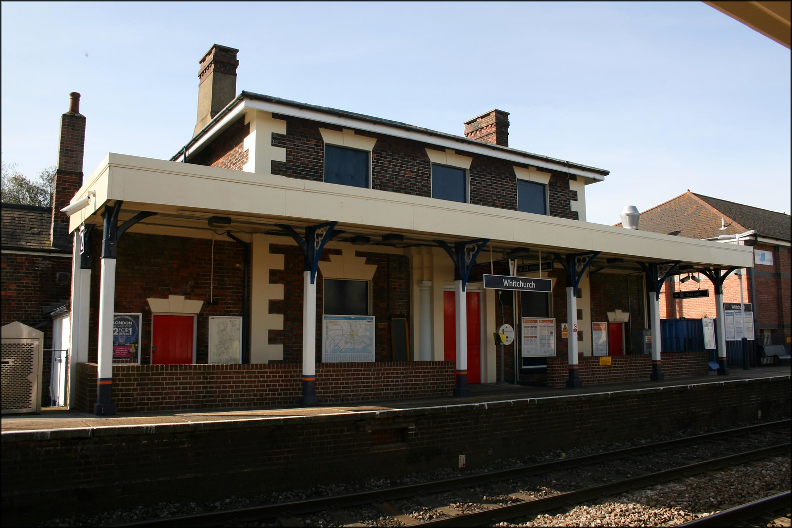 Whitchurch station Between Basingstoke and Andover on the West of England Line which runs from London Waterloo to Exeter.