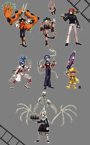 Gender-bent Skullgirls Fan Art by Emlans