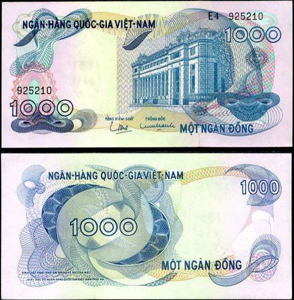 1000 Dong Južný Vietnam 1971, Pick 29