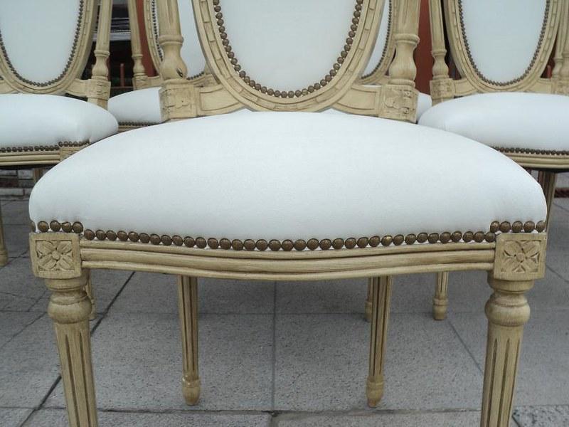 Juego 8 sillas estilo franc s luis xvi patinadas no - Sillas estilo ingles ...