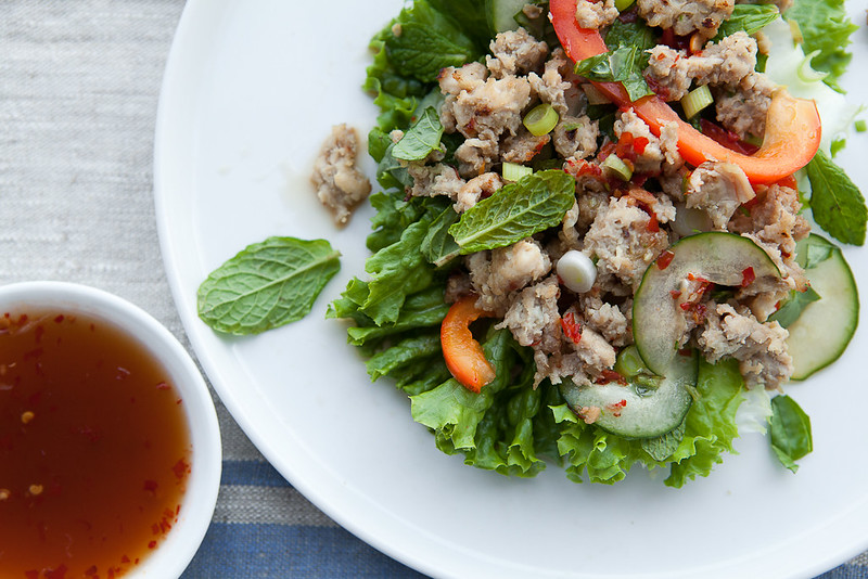 how to make larb chicken