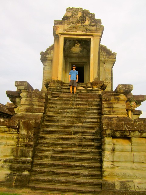 josh at angkor wat in cambodai