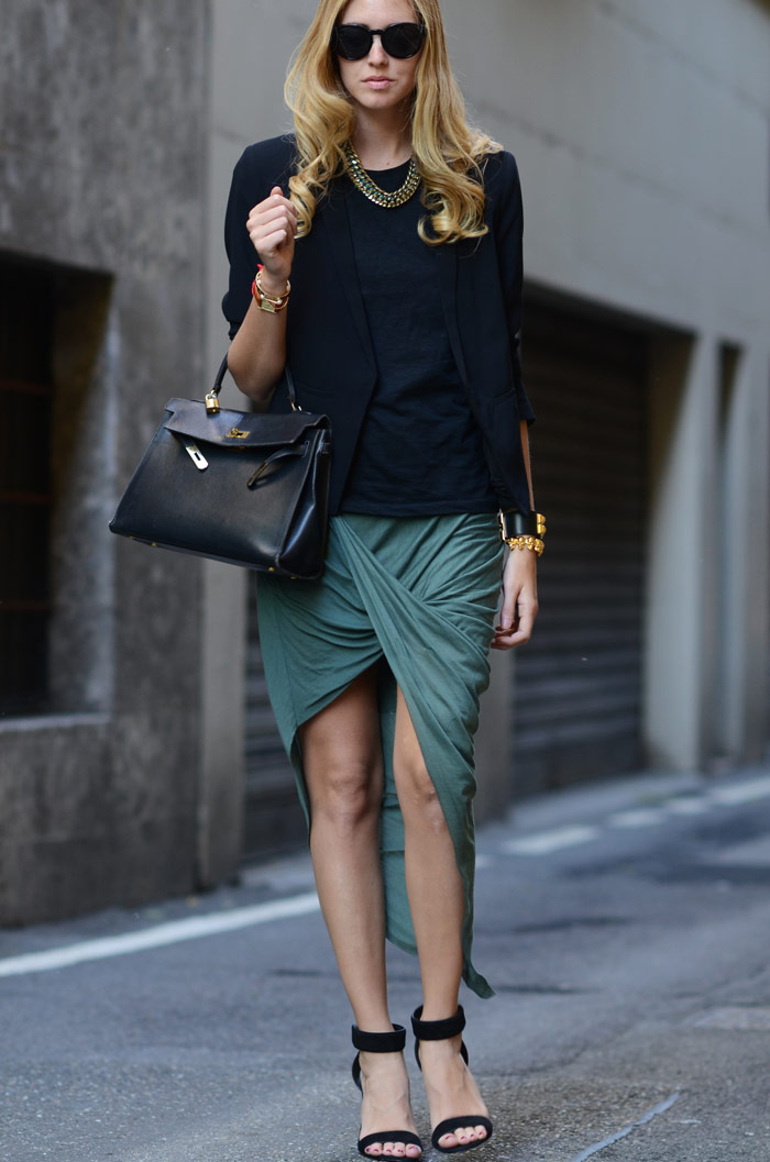 drapey skirt corporate woman 2012 fashionable blog creative industry