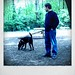 Andrew and Aurora at the dog park