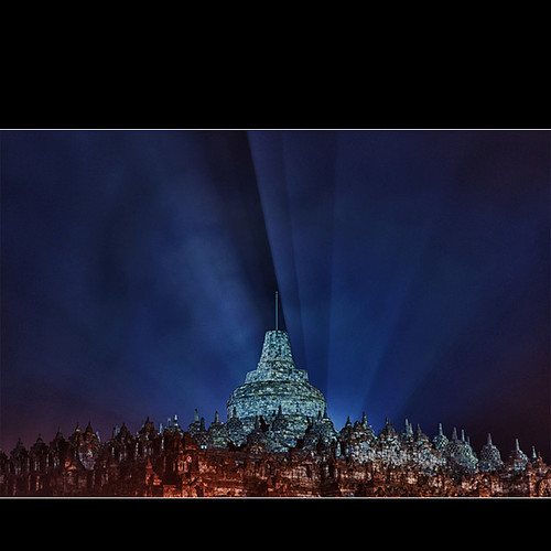 Borobudur temple @ night