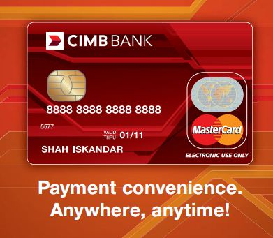 Kad Debit CIMB MasterCard