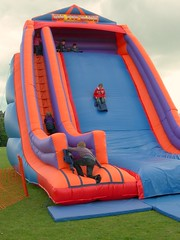 play, recreation, leisure, games, playground slide, inflatable,