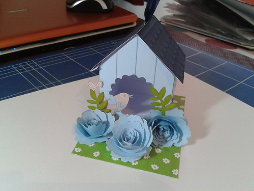 little bird house by Linda's hand made cards