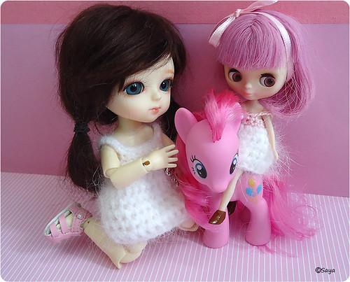 Luna, Caramelo y Pequeño Pony by tatadelacasa