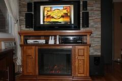 "Pasadena 28"" Electric Fireplace Entertainment Center in Premium Oak"