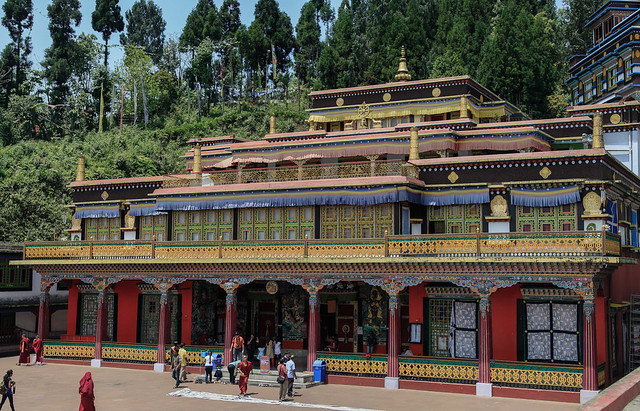 Rumtek Monastery - seemingly quiet and beautiful
