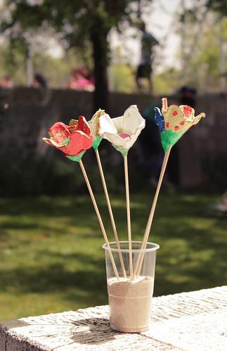 flores huevera