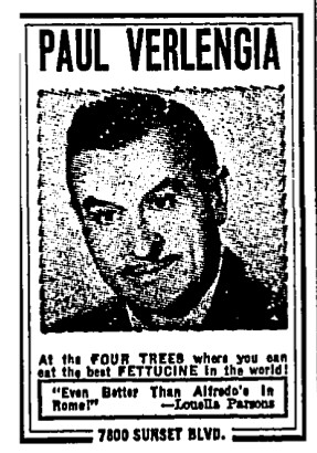 verlengia portrait four trees ad 1965