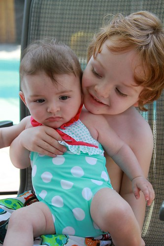 kids, poolside