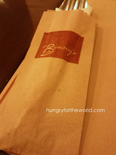 brown paper bag to hold cutlery