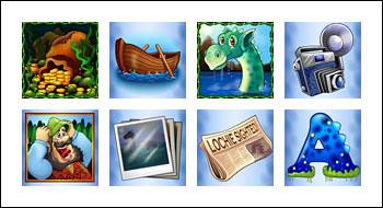 free Loch Ness Loot slot game symbols