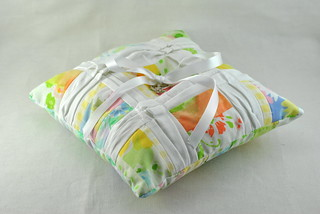 Pleated Sheets Ring Pillow (for Coats + Clark)