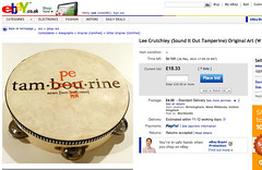 My tamperine is up on eBay...