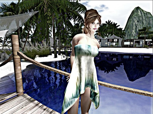 Blueberry Seaside *Mesh* Dress-Cotton- in Blye Updated by Cherokeeh Asteria