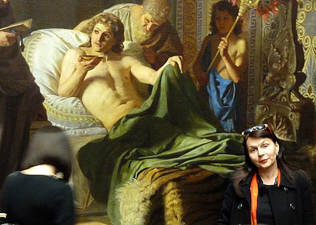 Минск Ночь музеев 2012 Люди на картинах и люди в музеях как родные 3