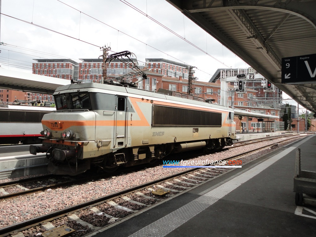 The BB 7293 SNCF at Toulouse Matabiau on 13 May 2012