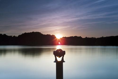 sunset silhouette clouds canon twilight dusk maryland telescope refraction flare sunburst waterscape montgomerycounty boyds blackhillregionalpark littlesenecalake ef2470f28lusm shootingwithfriends 5dmkii hitechgnd12 singhrayvarintrio