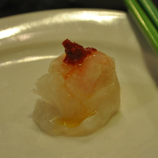 Hakaw (Shrimp Dumpling) with Chili Sauce
