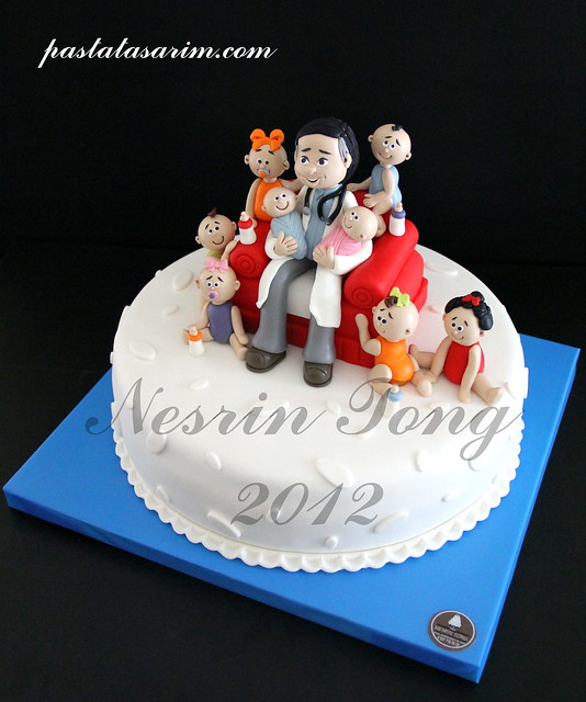 doctor and babies cake