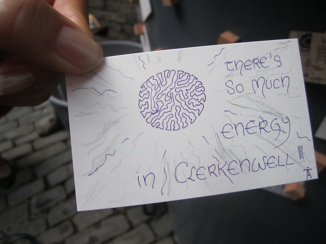 #courtyardcreative (Tiny) Postcards from Clerkenwell at Clerkenwell Design Week 2012