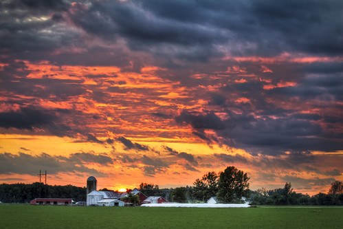 24 Indiana Farm Sunset