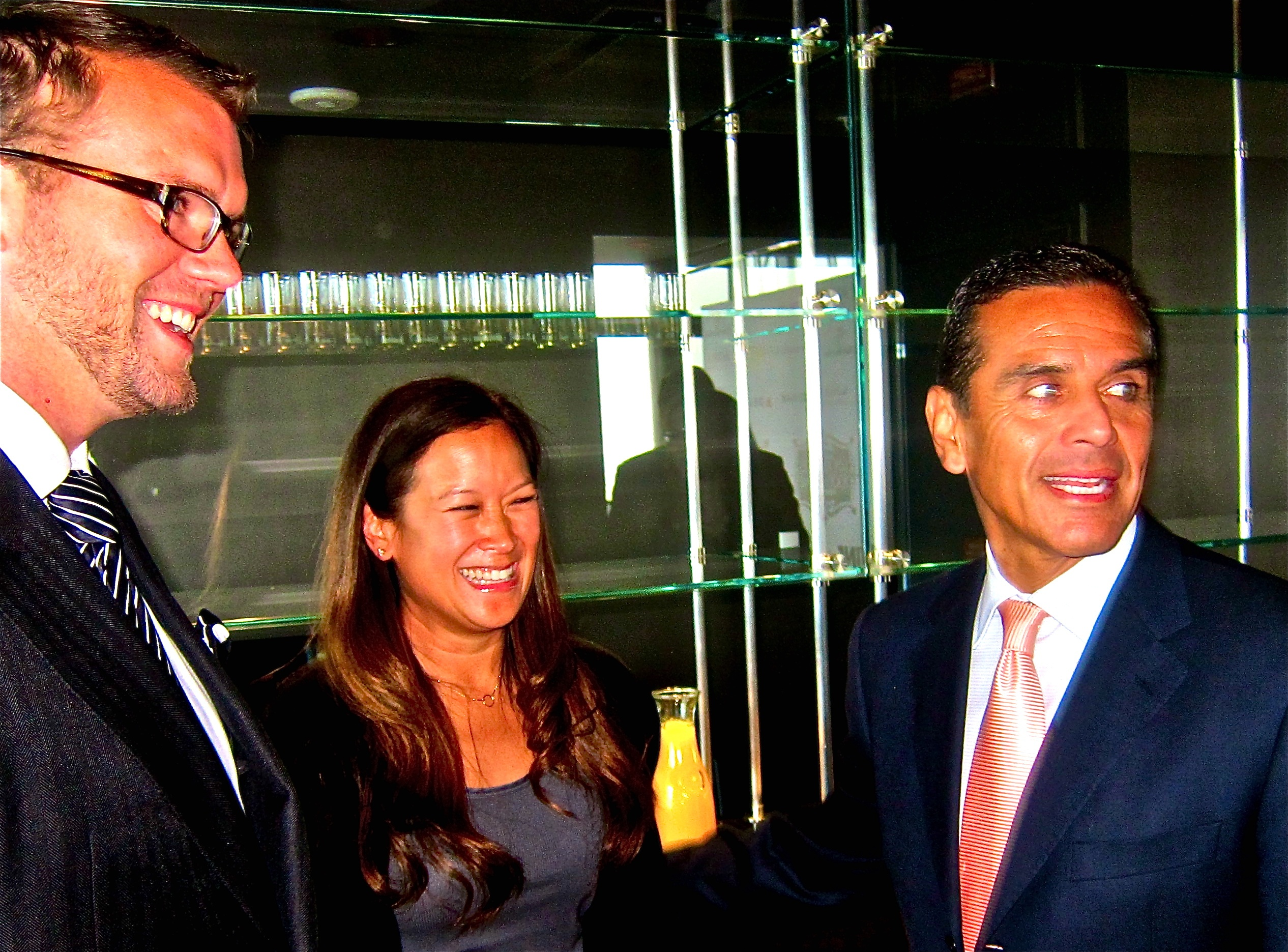 David Bernalh, Caryl Chinn, Mayor Villaraigosa