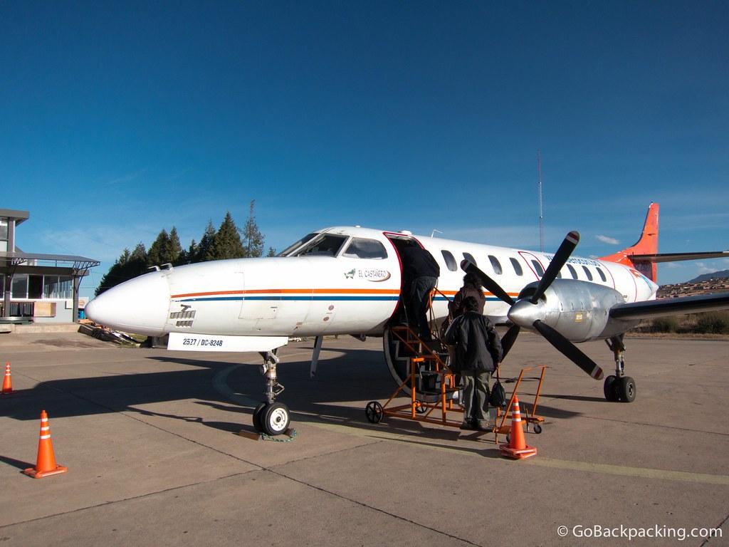 My Aerocon flight from Sucre to Santa Cruz de la Sierra