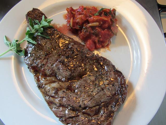 Pizzaiola sauce for grilled steak